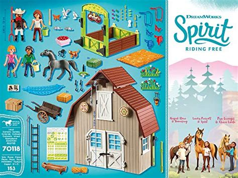 Grange Playmobil by Playmobil Spirit Free Grange Avec Lucky Apo Et