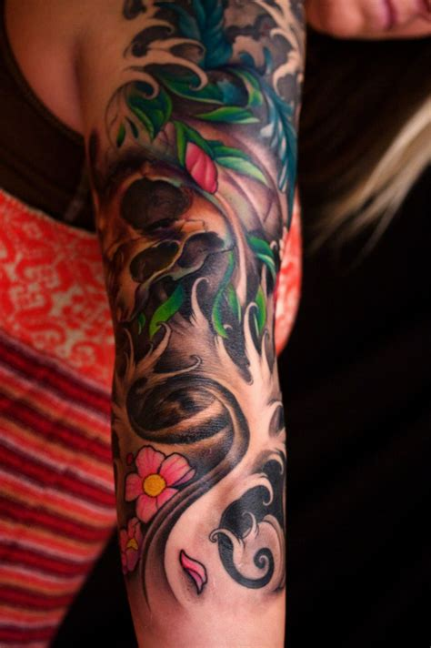 skeleton sleeve tattoo designs japanese sleeve ideasquxxo