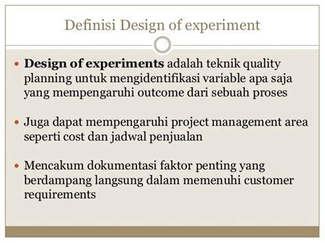 Design Of Experiment Adalah | ppsi pertemuan 8 quality management1