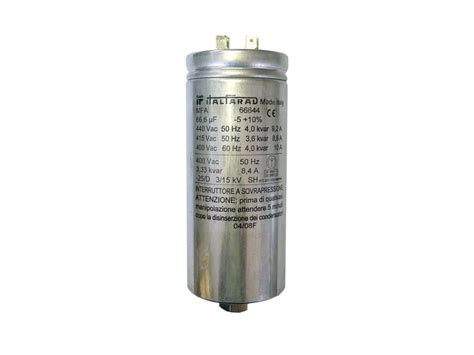 single capacitor mfa66644 italfarad single phase capacitors capacitor industries