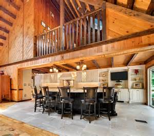 Log Cabin Kitchen Cabinets Log Cabin Kitchens With Modern And Rustic Style Homestylediary