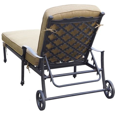 aluminum outdoor chaise lounge darlee camino real cast aluminum patio chaise lounge