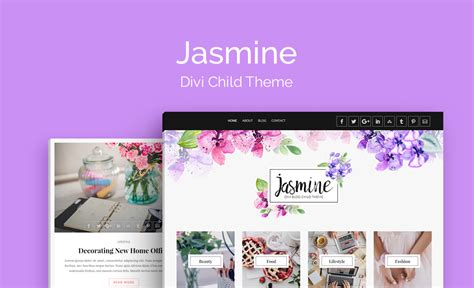 Jasmine Blog Theme Divi Space Divi Child Theme Templates