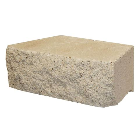 shop limestone retaining wall block common 4 in x 12 in