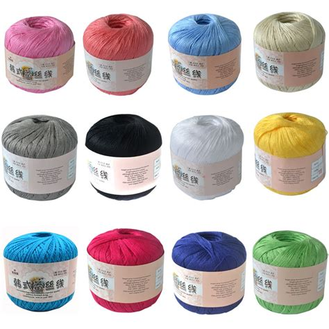 high quality knitting yarn aliexpress buy high quality lace cotton yarn for