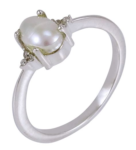 Handcrafted Silver Rings - pearl 925 sterling silver ring band handcrafted
