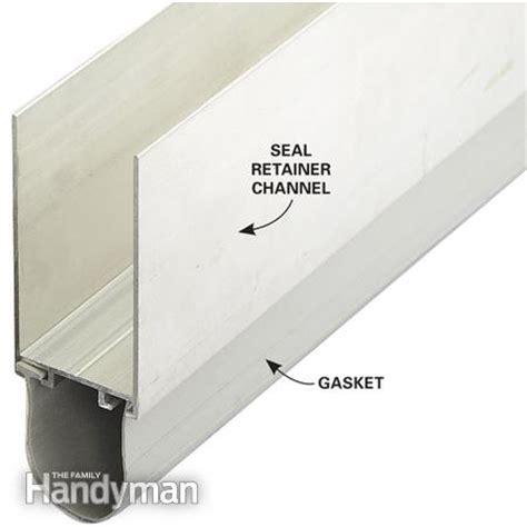 garage door edge seal fixing garage doors the family handyman