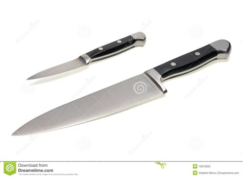 kitchen cutting knives kitchen knives stock two kitchen knives stock image image of blade grip