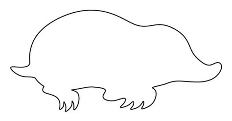Mole Pattern Use The Printable Outline For Crafts Creating Stencils Scrapbooking And More Mole Project Template