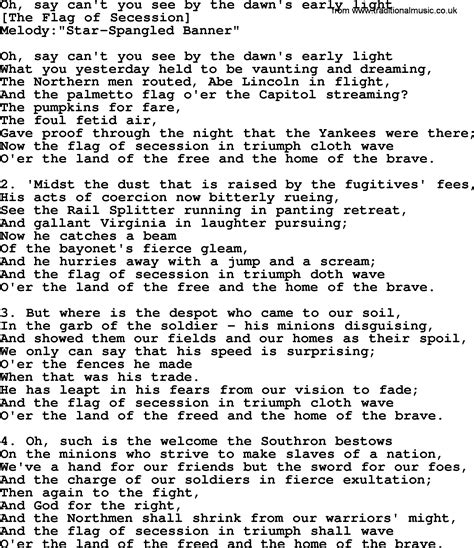 As As I Can See The Light Lyrics by American Song Lyrics For Oh Say Can T You See By