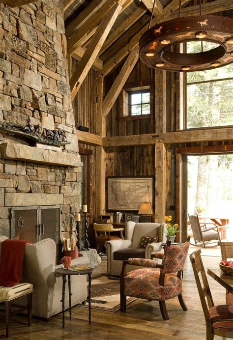 rustic cabin  swan valley    wood  stone