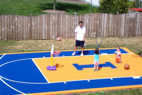 diy backyard basketball court outdoor furniture design and ideas part 27