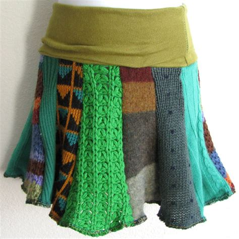 Handmade Skirts - twirly fabulous upcycled sweater skirts try handmade