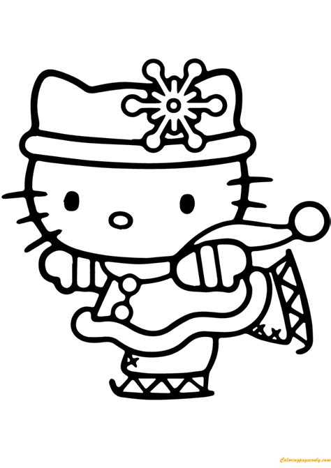 hello kitty coloring pages st patrick s day hello kitty skating coloring page free coloring pages online