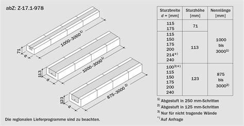 Kalksandstein Sturz Preis by Ks St 252 Rze