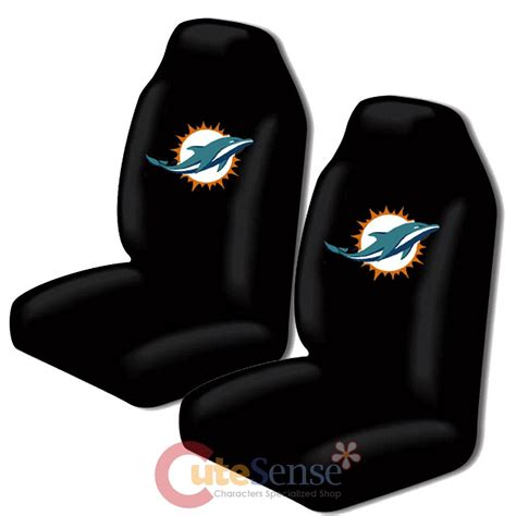 car seat upholstery miami miami dolphins car seat cover 2pc nfl auto accessories set