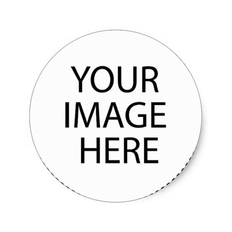 Template Blank Add Your Image Text Here Classic Round Sticker Zazzle Waf Project Template