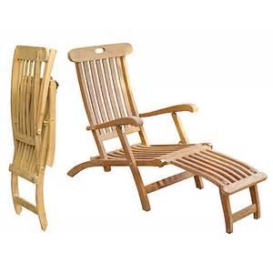 teak outdoor lounge chair