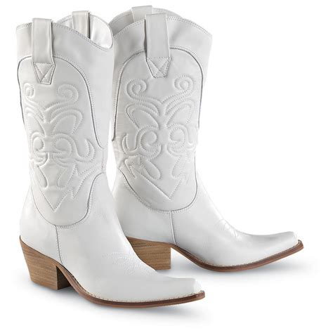 s kenny 174 high noon western boots white