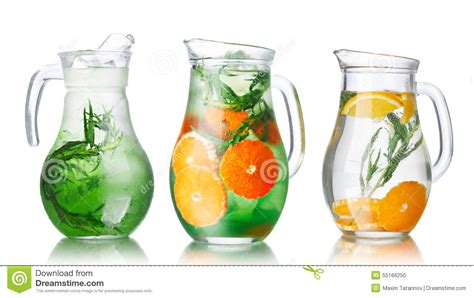 Detox Water Pitcher by Detox Water With Tarragon Stock Photo Image 55166250