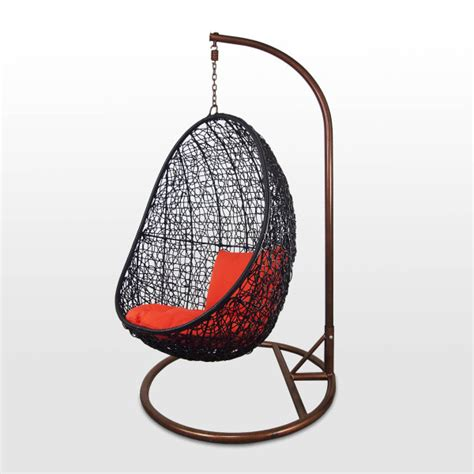 cocoon swing black cocoon swing chair orange cushion furniture