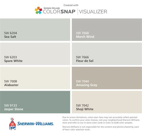 sherwin williams sea salt coordinating colors best 25 sherwin williams alabaster ideas on