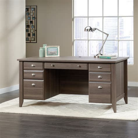 sauder shoal creek executive desk sauder shoal creek modern executive desk ash finish
