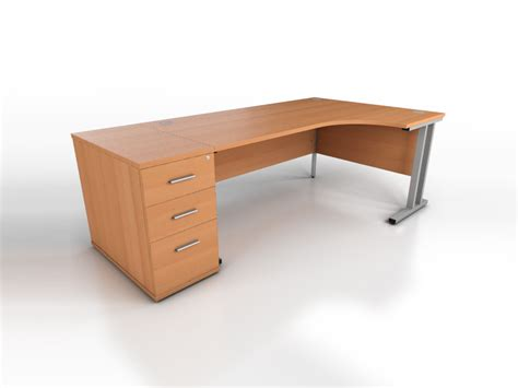 Beech Office Desk Beech Corner Desk Icarus Office Furniture