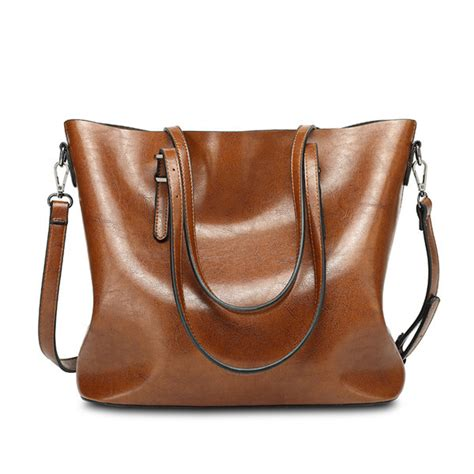 Totebag By Adamshopp 2 leather tote handbags vintage shoulder bags capacity big shopping tote crossbody bags