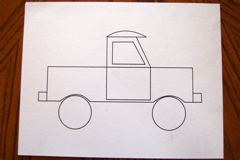 5 best images of pick up truck template printable old