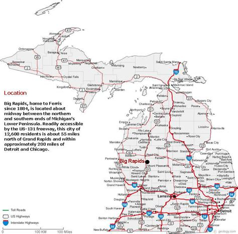 map michigan map of michigan michigan maps mapsof net