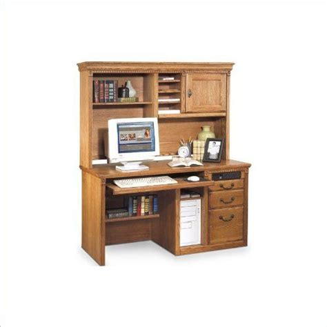 Distressed Computer Desk With Hutch Kathy Ireland Home By Martin Furniture Huntington Oxford