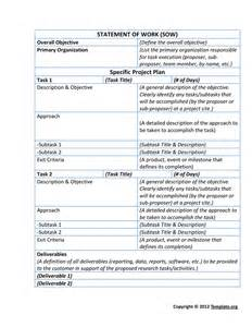 Sow Statement Of Work Template by Statement Of Work Template In Word And Pdf Formats