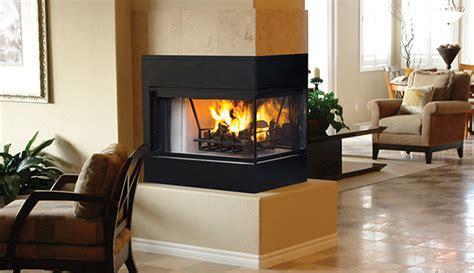 superior wrt 4000 peninusla 3 sided wood burning fireplace