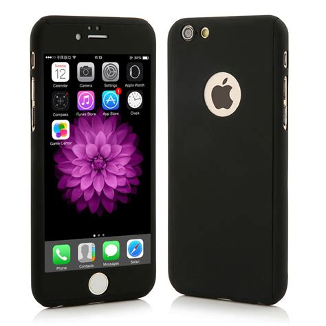 Casing 360 Iphone 6 6 Hardcase Free Tempered Glass 360 176 hybrid tempered glass acrylic cover for iphone 6 6s plus ebay