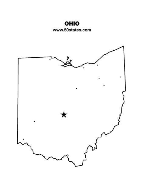 ohio state cus map ohio map