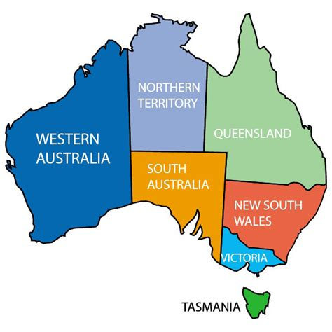 map of australia with territories australia map territories my
