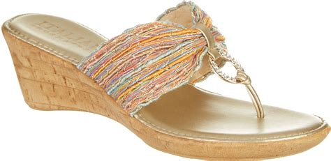 italian shoemakers womens multi wedge sandals ebay