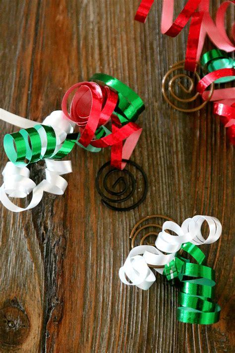 paper clip  ribbon diy homemade ornaments