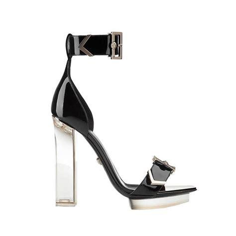 versace sandals sale new versace black patent leather plexi platform sandals