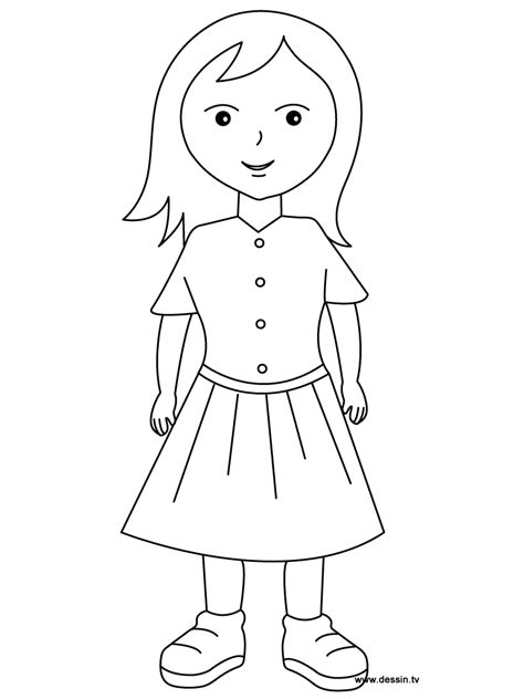 coloring pages of a girl coloring girl