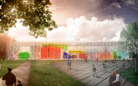 design museum competition 2015 nacho gias blends kandinsky and van der rohe for bauhaus