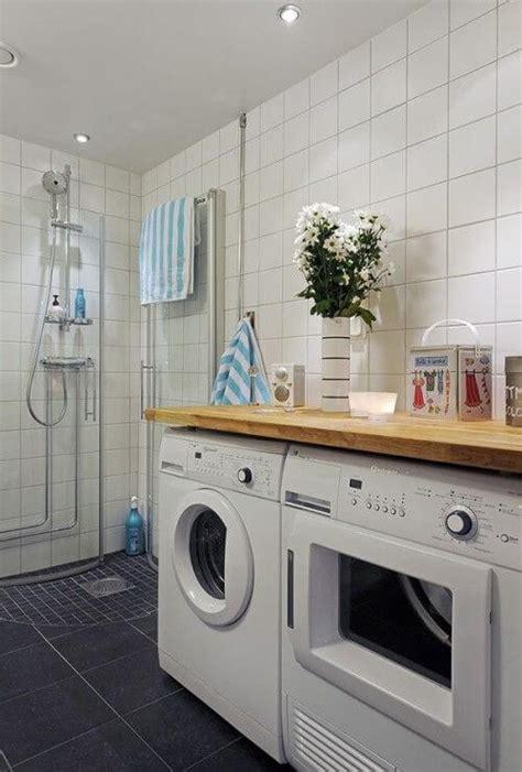Combined Bath And Shower a combined laundry and bathroom