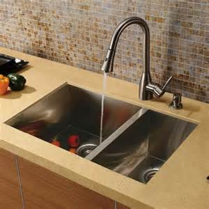 Delta Pull Out Kitchen Faucet Vigo Vg15026 16 Gauge Stainless Steel Zero Edge 60 40