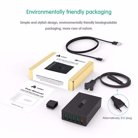 Aukey Charger Usb 5 Port Qc 3 0 Aipower Pa T15 Aukey Charger Usb 5 Port Qc 3 0 Aipower Pa T15 Black Jakartanotebook