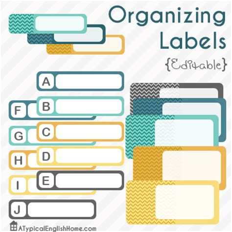 printable labels organizing a typical english home editable organizing labels printables