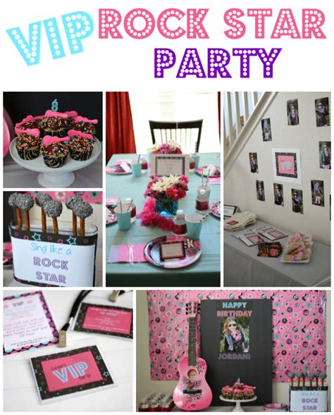 theme music vip vip rock star party ideas crazy for crust