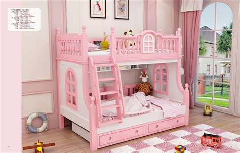 twin beds  girls child pink bunk bed kids beds