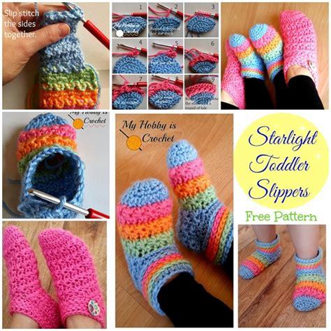 wonderful diy crochet starlight slippers   pattern