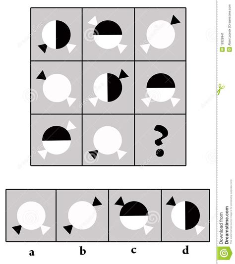pattern and shape iq test iq test logical tasks composed of puzzles shapes vector